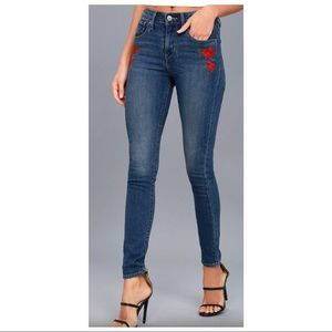 Levis high waisted 721 skinny jean embroidered NWT